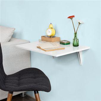 sobuy fwt21 w table murale rabattable en bois table de cuisine table enfant l60 p40cm blanc
