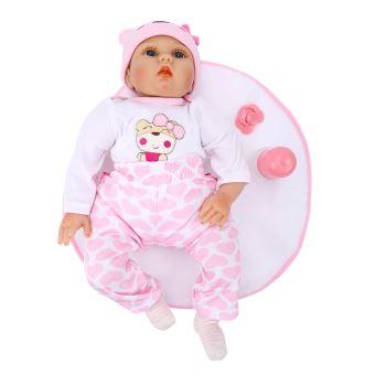 poupee poupon nouveau ne bebe shinehalo 55cm bebe interactive en silicone souple realiste bebe