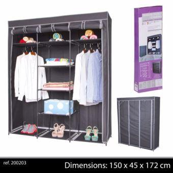 grande penderie etagere armoire de rangement pour vetement placard dressing de chambre portant en tissu