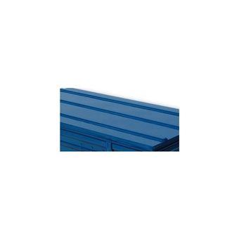 pierre henry malle de rangement en metal bleu 225 litres