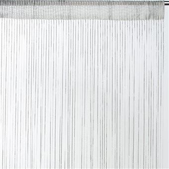 rideau fils uni brillant blanc dimensions 90x240cm