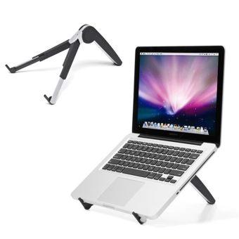 support pour ordinateur portable rabattable pour ordinateur portable avec pieds extensibles et angles de reglage pour support de tablette portable de