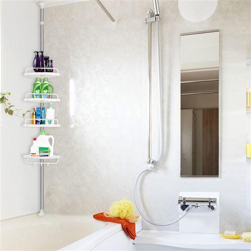 etagere d angle salle de bains oobest reglable en hauteur 254 304cm