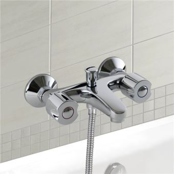 melangeur baignoire laiton robinet bain douche chrome entraxe standard