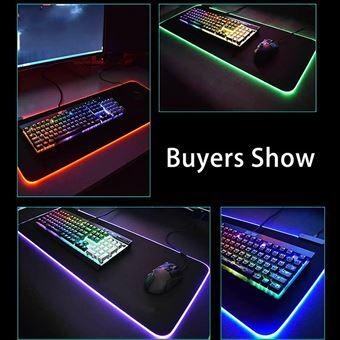tapis de souris gamer lumineux tapis de souris led light gaming mouse pad avec led retro eclairage rvb avec cable usb 300 800 4