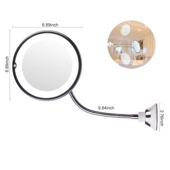Alpexe Miroir Grossissant Lumineux Mural X10 Ventouse Fixe Flexible De 360 Degres Achat Prix Fnac