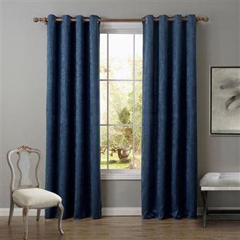 1pcs rideaux occultants rideau de la fenetre d ombre tissu 135 260cm bleu fonce