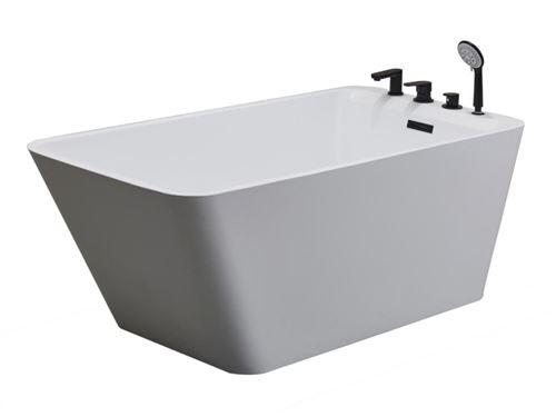 baignoire ilot mija 188 l 150 75 58 cm blanche