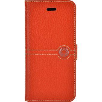 faconnable etui coque cuir pour iphone 5 et iphone se orange