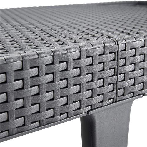 allibert bain de soleil jaipur 4 positions imitation resine tressee graphite