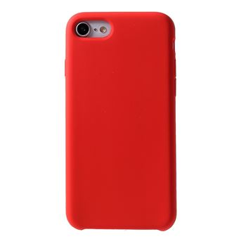coque en silicone soyeux solide rouge pour votre apple iphone 8 7 4 7 inch