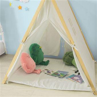 sobuy oss02 w tipi tente enfant avec tapis de sol teepee tente de jeu pour enfants