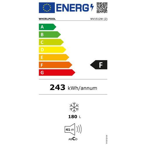 whirlpool wv1512w congelateur congelateur armoire pose libre largeur 55 cm profondeur 58 cm hauteur 143 cm 165 litres classe f