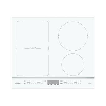 sauter spi4664w table de cuisson a induction 4 plaques de cuisson niche largeur 56 cm profondeur 49 cm avec garnitures en aluminium