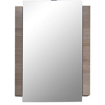 maisonnerie 1316 503 91 campus armoire murale miroir meuble salle de bain chene de san remo claire blanc lxhxp 60 x 80 x 15 cm