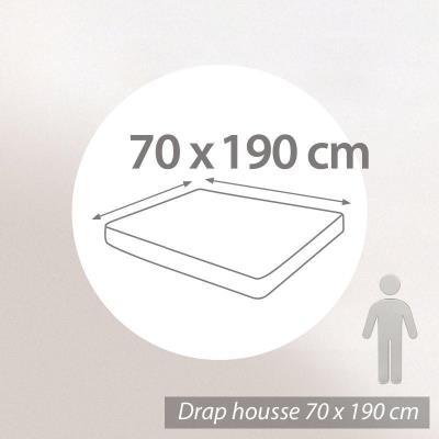 Drap Housse Uni 70x190 Cm 100 Coton Alto Blanc Achat Prix Fnac