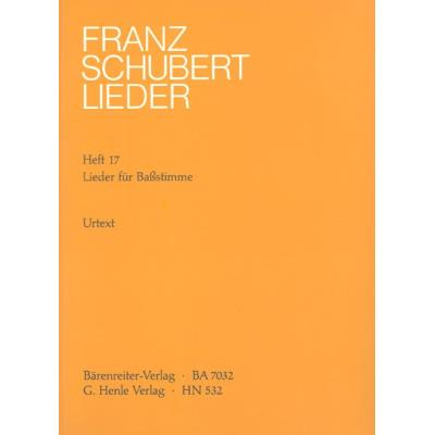 Partitions classique HENLE VERLAG SCHUBERT F. - SONGS FOR BASS Voix solo, piano