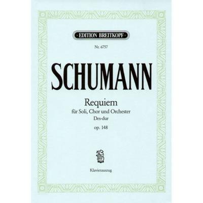 Partitions classique EDITION BREITKOPF SCHUMANN R. - REQUIEM DES-DUR OP. 148 - CHANT, CHOEUR, PIANO Choeur et ensemble vocal