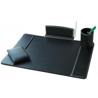 parure de bureau 4 pieces en simili cuir 704020 polyurethane achat prix fnac