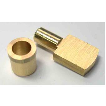strauss taquet d etagere laiton poli tige o 6 mm par 4