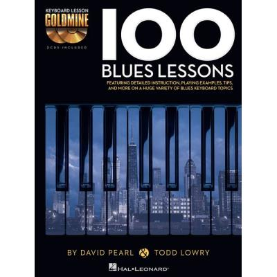 100 Blues Lessons Keyboard Lesson Goldmine Series + 2 Cd