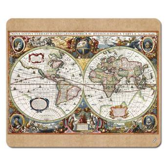 cartes historiques tapis de souris carte du monde nova totius terrarum 1630 19x23 cm