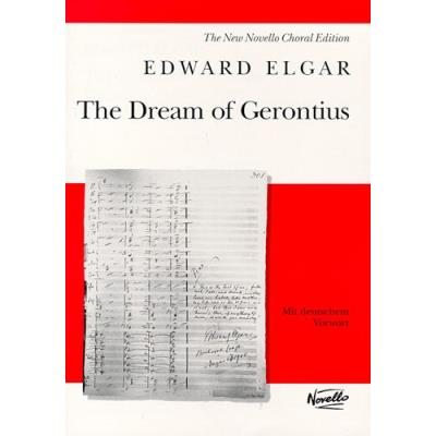 Partitions classique NOVELLO EDWARD ELGAR - DREAM OF GERONTIUS - OP.38 - NEW NOVELLO CHORAL EDITION Choeur et ensemble vocal