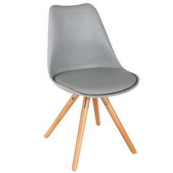 74 sur chaise scandinave avec coussin lot de 4 gris achat prix fnac