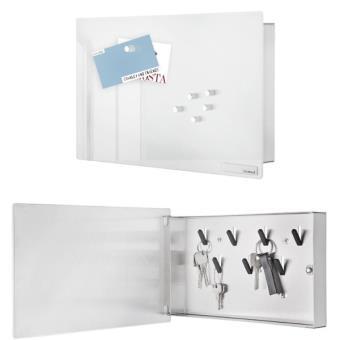 Boite A Cles Magnetique Design Velio Blanc 30 X 20 Cm Achat Prix Fnac