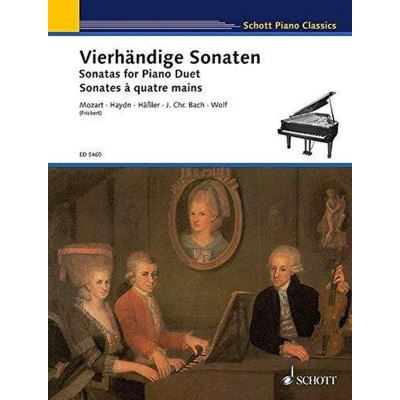 Partitions classique SCHOTT SONATAS FOR PIANO DUET - PIANO Piano