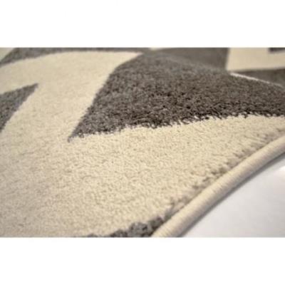 chevrons tapis de salon 160x230 cm gris