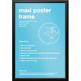 Cadre Pour Affiches Noir Maxi 61x91 5cm Moulage Courbe Achat Prix Fnac