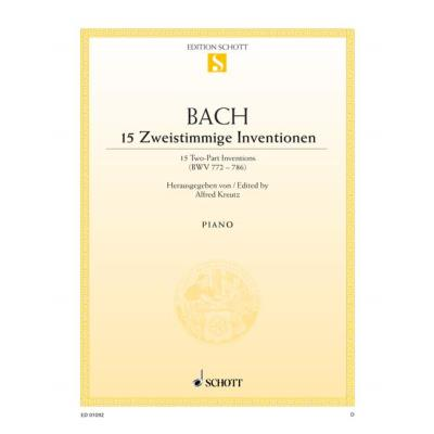 Partitions classique SCHOTT BACH J.S. - 15 TWO-PART INVENTIONS BWV 772-786 - PIANO Piano