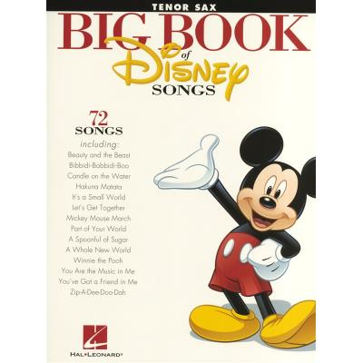 Partitions variété, pop, rock... HAL LEONARD THE BIG BOOK OF DISNEY SONGS INSTRUMENTAL FOLIO TENOR SAXOPHONE - TENOR SAXOPHONE Musique films - comédies musical