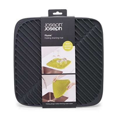 joseph joseph 5028420850871 flume tapis egouttoir petit modele silicone gris 31 5 x 31 5 x 0 95 cm