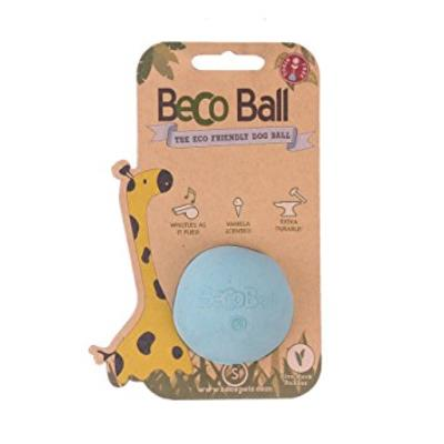 Becothings Becoball Balle pour Chien Petit Bleu