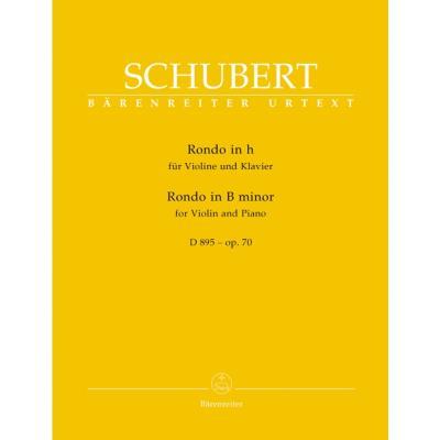 Partitions classique BARENREITER SCHUBERT FRANZ - RONDO FOR VIOLIN AND PIANO OP.70 D895 Violon