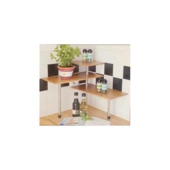 mini etagere d angle en bois de bambou pour ustensiles et epices de cuisine