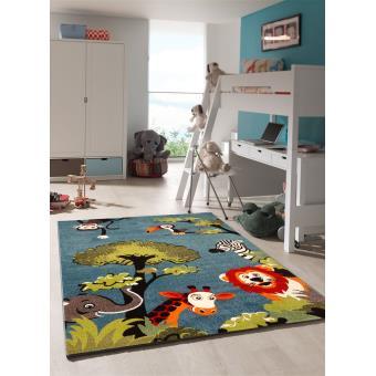 tapis chambre enfant kids safari undefined par unamourdetapis 60 x 110 cm