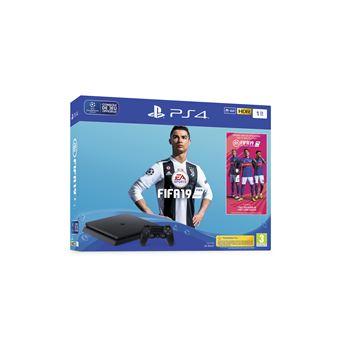 PS4 Slim 1 TB black + FIFA 19