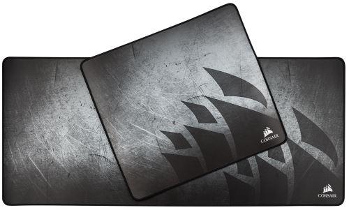 tapis de souris gaming corsair en tissu anti effilochement taille xl gris graphisme