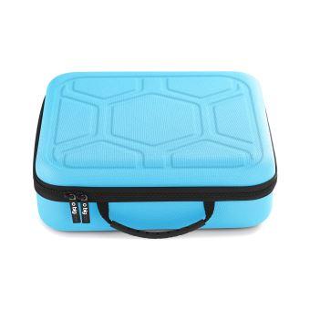 valisette de rangement bigben bleu pour nintendo switch