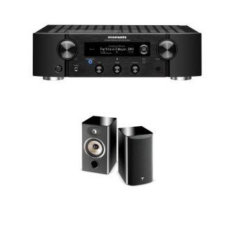 amplificateur hi fi marantz pm7000n noir enceinte bibliotheque focal aria 906 black high gloss vendue par paire
