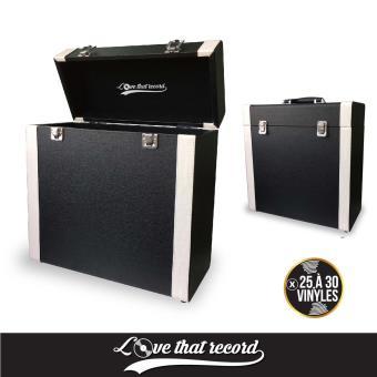 boite de rangement 33 tours noire et blanche