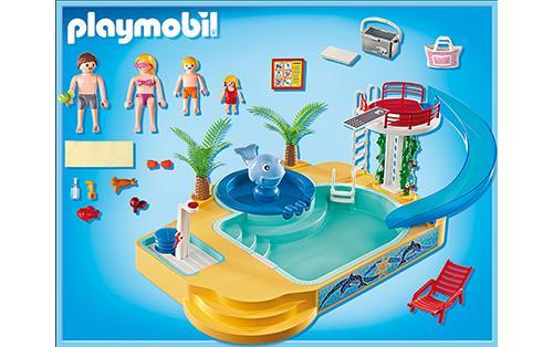 playmobil 5433 summer fun famille avec piscine et plongeoir