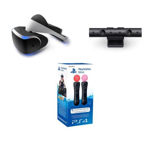 Playstation VR + Caméra VR PlayStation PS4 V2 + Pack de 2 manettes
