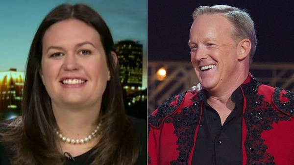 Sarah Sanders says her whole family votes for Sean Spicer on