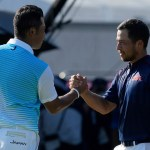 Xander Schauffele with 2 clutch putts gives US gold in golf 💥💥
