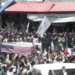 Taliban supporters hold mock funerals for with coffins draped with American flags 💥💥