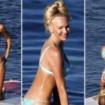 Christine Quinn performs splits, yoga poses in tiny blue bikini on paddleboard during Italian getaway 💥👩💥
